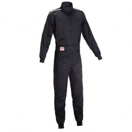 OMP SPORT ONE LAYER OVERALL BLACK SFI HOMOLOGATED