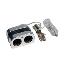 LAM-39082 - Presa corrente doppia con prolunga 12 24V