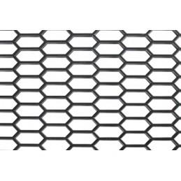 Original-Look  griglia aerazione in PP - Esagono largo 15x35 mm - 120x40 cm - Nero