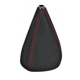 Premium Sport  cuffia leva cambio in pelle perforata - Nero Rosso
