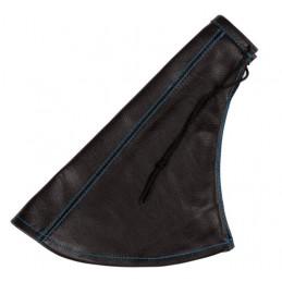 Cuffia in pelle leva freno a mano nera - Blu