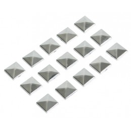 Decor-Studs  borchie cromate 15 pz - 10x10 mm