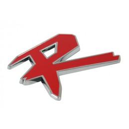 Emblema 3D cromato bicolore - R