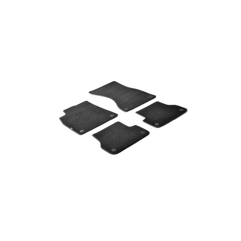 Set tappeti su misura in moquette - Nero -  Audi A6 4p (04 11 06 18) -  Audi A6 Allroad (03 12 ) -  Audi A6 Avant (09 11 07 18)