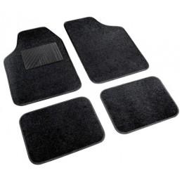 Cosmo  serie tappeti in moquette universali  4 pz - Nero