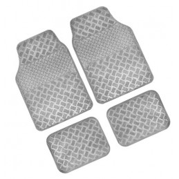 Chrome-Carbon  serie tappeti universali in pvc 4 pezzi