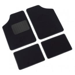Supra  serie tappeti 4 pezzi - A - Nero