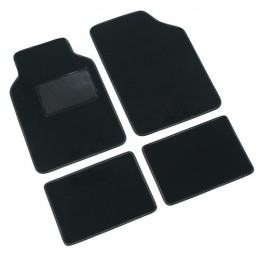 Supra  serie tappeti 4 pezzi - C - Nero
