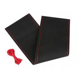 Premium Perforated  coprivolante in pelle - L -   37 39 cm - Nero Rosso
