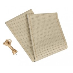 Premium Perforated  coprivolante in pelle - L -   37 39 cm - Beige