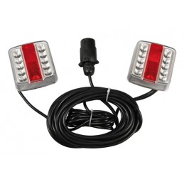 Full-Led Kit  fanali posteriori magnetici a Led  12V