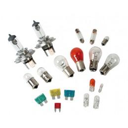 Kit lampade di ricambio 19 pz  alogena 2x H4 - 12V