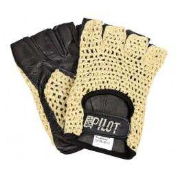 Pilot-1  guanti guida mezze dita - L - Nero