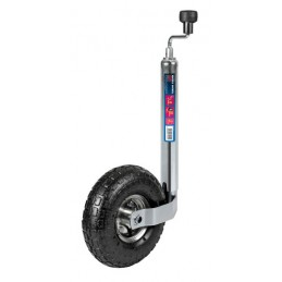 Servotimone per rimorchi e roulotte  ruota gonfiabile   260 mm