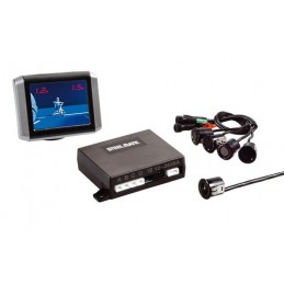 PTSV402  kit 4 sensori parcheggio con telecamera e monitor  12V