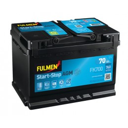 Batteria 12V - Fulmen Start-Stop AGM - 70 Ah - 760 A