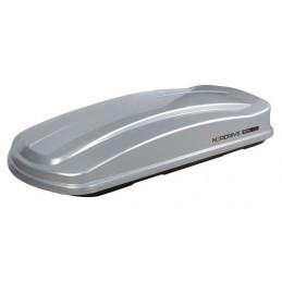 Box 430D  box tetto in ABS  430 litri  doppia apertura - Argento lucido