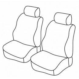 Set coprisedili Superior - Nero Blu - Dacia Dokker Van (van) (fino al 2016) (11 12 2016)