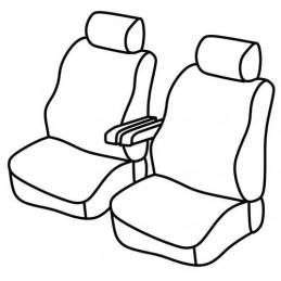 Set coprisedili Superior - Nero Rosso - Citroen Jumpy (van) (04 16 ) - Peugeot Expert (van) (04 16 )