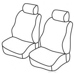 Set coprisedili Superior - Nero Rosso - Ford Transit Custom (van) (10 12 )