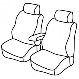 Set coprisedili Superior - Nero Rosso - Mercedes Citan (van) (10 12 )