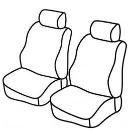 Set coprisedili Superior - Nero Rosso - Renault Kangoo (van) (08 97 01 08)