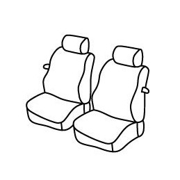 Set coprisedili Superior - Nero Rosso - Volkswagen Caddy (van) (11 95 12 03)