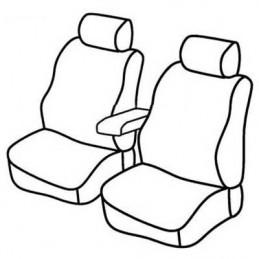 Set coprisedili Superior - Nero Rosso - Volkswagen Caddy (van) (Fino al 09 2010) (03 04 09 10)