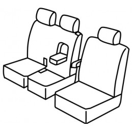 Set coprisedili Superior - Nero Blu - Citroen Jumpy (van) (04 16 ) - Toyota Proace (van) (04 16 )