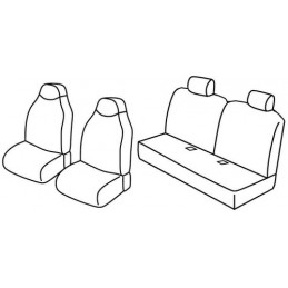 Set coprisedili Superior - Nero Grigio - Citroen C1 3p (05 05 02 12) - Citroen C1 5p (05 05 02 12) - Peugeot 107 3p (07 05 02 12