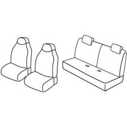 Set coprisedili Superior - Nero Blu - Citroen C1 3p (03 12 05 14) - Citroen C1 5p (03 12 05 14) - Peugeot 107 3p (03 12 12 14) -