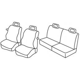 Set coprisedili Superior - Nero Blu - Seat Arosa (02 97 06 04) - Volkswagen Lupo (06 98 07 05)