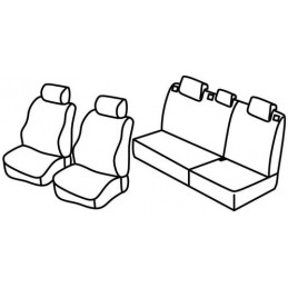 Set coprisedili Superior - Nero Rosso - Chevrolet Spark (02 10 09 15)