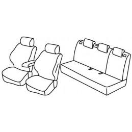 Set coprisedili Superior - Beige - Audi A1 Sportback 5p (Attraction) (02 12 01 15)