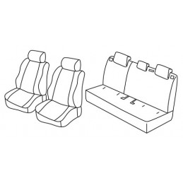 Set coprisedili Superior - Beige - Mazda 2 5p (Attraction) (03 15 )