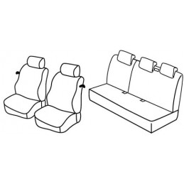 Set coprisedili Superior - Nocciola - Nissan Micra 3p (10 07 10 10)