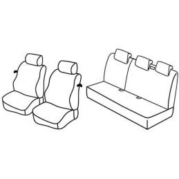 Set coprisedili Superior - Nocciola - Nissan Micra 3p (01 03 09 07)