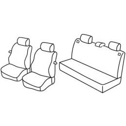 Set coprisedili Superior - Nero Rosso - Seat Ibiza 3p (fino al 2005) (01 02 2005)