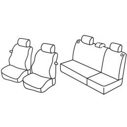 Set coprisedili Superior - Grigio Nero - Seat Ibiza 3p (fino al 2005) (01 02 2005)