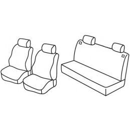 Set coprisedili Superior - Nero Rosso - Seat Ibiza 5p (fino al 2005) (01 02 2005)