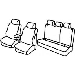 Set coprisedili Superior - Nero Grigio - Seat Ibiza 5p (Xcellence  Style) (06 17 )