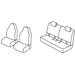 Set coprisedili Superior - Nero Grigio - Citroen C1 3p (06 14 ) - Citroen C1 5p (06 14 ) - Citroen C1 Airscape 3p (06 14 ) - Cit