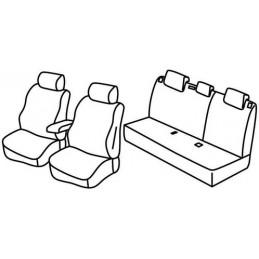 Set coprisedili Superior - Nero Rosso - Chevrolet Aveo 4p (05 11 09 15) - Chevrolet Aveo 5p (05 11 09 15)