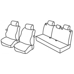 Set coprisedili Superior - Nero Grigio - Ford Focus 3p (01 99 01 05)