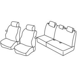 Set coprisedili Superior - Nero Blu - Hyundai i20 3p (02 09 02 15) - Hyundai i20 3p (03 15 04 18)
