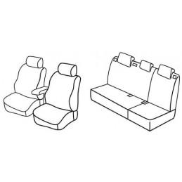 Set coprisedili Superior - Grigio Nero - Hyundai i30 5p (03 12 12 16) - Hyundai i30 Wagon (09 12 04 17)