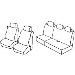 Set coprisedili Superior - Beige - Mazda 2 5p (01 03 09 07)