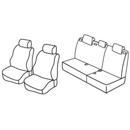 Set coprisedili Superior - Nero Grigio - Honda Civic 5p (01 06 01 12)