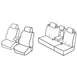 Set coprisedili Superior - Beige - Honda Civic 5p (02 12 02 15)