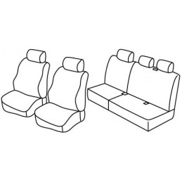 Set coprisedili Superior - Nero Grigio - Jeep Grand Cherokee (CRD) (06 05 12 10)